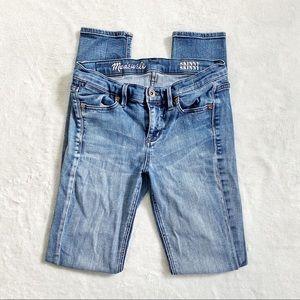 Madewell distressed knee denim skinny jeans
